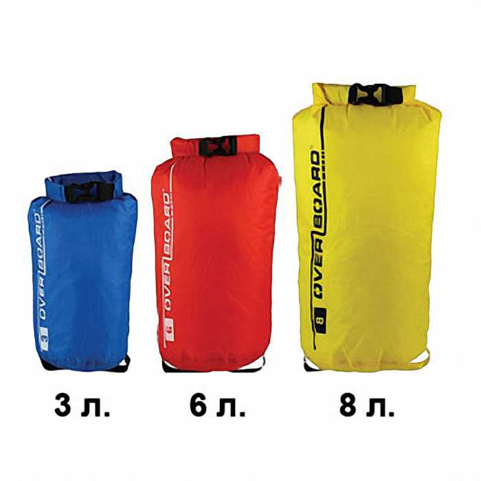 Набор водонепроницаемых гермомешков OverBoard OB1032MP - Dry Bag Multipack Divider Set - 3L, 6L, 8L (Blue/Red/Yellow)