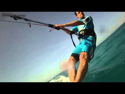 OverBoard — Waterproof iPod Case & Headphones Kitesurfing Action