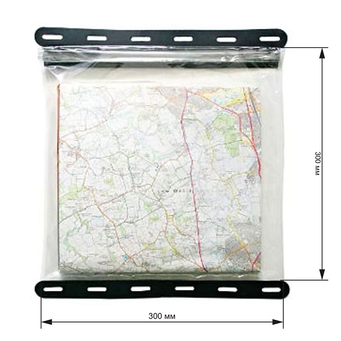 Водонепроницаемый чехол Aquapac 808 - Kaituna Map Case (Clear With Black Border)