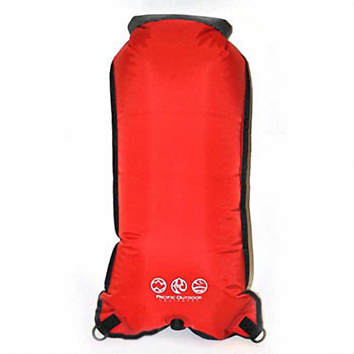 Водонепроницаемый гермомешок Pacific Outdoor Equipment/WXtex DS25RG - Dry Sack Red&Grey - 25L (Red)