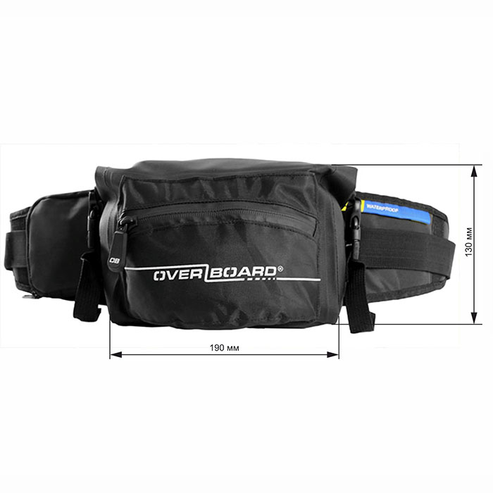 Водонепроницаемая сумка OverBoard OB1049BLK - Waterproof Waist Pack - 2L (Black)
