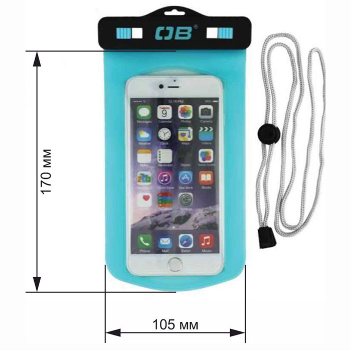 Водонепроницаемый чехол OverBoard OB1106A - Waterproof Large Phone Case (Aquamarine)