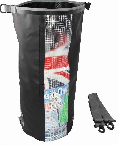 Водонероницаемая сумка OverBoard OB1058BLK - Waterproof Dry Tube Bag with Window - 30L. Фото 4